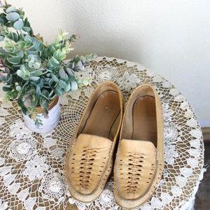 Women's Tan Huarache Style Boho Slippers